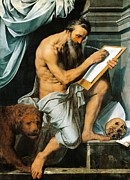Saint  Paintings - St. Jerome by Willem Key
