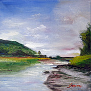 Relax Paintings - St John river by Maria Pia Guarneri