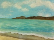 Panama City Beach Painting Prints - St John Shoreline Print by Susan Hart