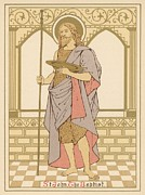 Red Robe Drawings Posters - St John the Baptist Poster by English School