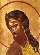Russian Icon Prints - St. John the Baptist Print by Joseph Malham