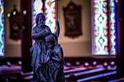 St Mary Prints - St. John the Baptist Statue in St. Marys of the Mountains Print by Scott McGuire