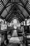 Black And White Digital Art Posters - St John Ysbyty Ifan Poster by Adrian Evans
