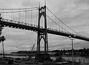 City Scape Metal Prints - St Johns Bridge Metal Print by Heather L Giltner