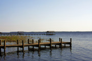 Jetty Prints - St Johns River Florida - Walk this way Print by Christine Till