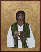 Egg Tempera Paintings - St. Joseph II by Ilse Wefers