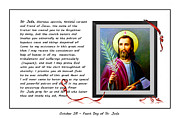 Saint Jude Posters - St. Jude Patron of Hopeless Cases - Prayer - Petition Poster by Barbara Griffin