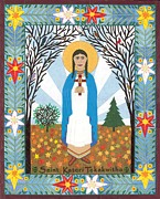 New York State Painting Originals - St. Kateri Tekakwitha Icon by David Raber