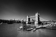 London Pier Framed Prints - st katherines pier on the river thames in front of tower bridge London England UK Framed Print by Joe Fox