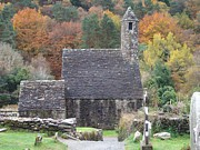 Fall Scenes Photo Originals - St Kevins Glendalough Ireland by Alan Lakin