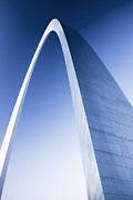 Jefferson National Expansion Memorial Posters - St Louis Arch at Dusk Poster by Garry McMichael
