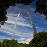 Jefferson National Expansion Memorial Posters - St Louis Arch Poster by Garry McMichael
