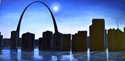 Usha Rai Framed Prints - St Louis Arch Framed Print by Usha Rai