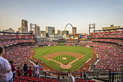 Ballparks Prints - St. Louis Cardinals National Anthem Print by David Haskett