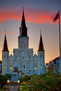 St. Louis Cathedral Framed Prints - St. Louis Cathedral 15 Framed Print by Chris Moore