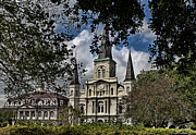 St. Louis Cathedral Print by Judy Vincent