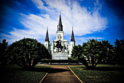 Nola Prints - St Louis Cathedral in Jackson Square Print by Ray Devlin
