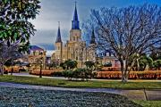 St. Louis Cathedral Framed Prints - St. Louis Cathedral Framed Print by Scott Pellegrin