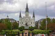St. Louis Cathedral Framed Prints - St. Louis Cathedral VIb Framed Print by Chris Moore