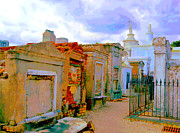 New Orleans Cemeteries Digital Art - St Louis Cemetery 1 at Dawn by Alys Caviness-Gober