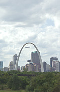 Kay Pickens Prints - St. Louis Cityscape Print by Kay Pickens