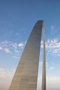 Gateway Arch Posters - St. Louis Gateway Arch Sunrise Glow Poster by David Haskett