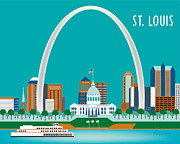 Gateway Digital Art - St. Louis by Karen Young
