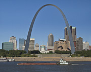 Skyline Arch Framed Prints - St Louis skyline Framed Print by Garry McMichael