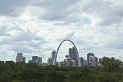 Stl Prints - St. Louis Skyline Two Print by Kay Pickens