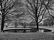 Winter Night Prints - St. Louis - Winter at the Arch 001 Print by Lance Vaughn