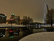 The West Prints - St. Louis - Winter at the Arch 005 Print by Lance Vaughn