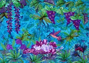 Grape Tapestries - Textiles Metal Prints - St. Lucia Metal Print by Jean Baardsen