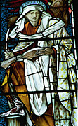 Stained-glass Glass Art - St Luke in stained glass by Philip Ralley