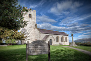 Cemetery Digital Art Prints - St Marcellas Church Print by Adrian Evans