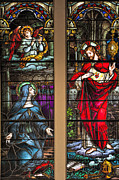 St Margaret Photos - St. Margaret Mary Alacoque and Sacred Heart of Jesus by Bonnie Barry