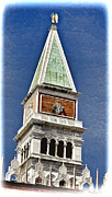 Saint Marks Prints - St Marks Square Tower Print by Jon Berghoff