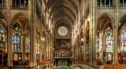 Gothic Cathedral Posters - St. Mary Cathedral Basilica of the Assumption Poster by Keith Allen
