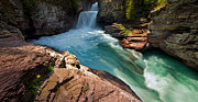 St Mary Falls - Glacier National Park Print by Matt Tilghman