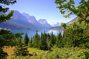 St. Mary Lake Print by Bob Hislop