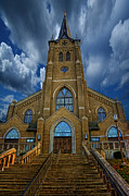 Indiana Photography Posters - St. Marys Cathedral  Poster by Regina  Williams