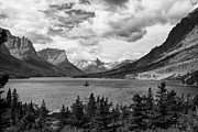 Glacier National Park Posters - St. Marys Lake Poster by Andrew Soundarajan