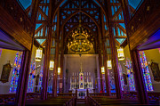 Stained Glass Prints - St. Marys of the Mountains Church Print by Scott McGuire