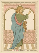 Religious Drawings Metal Prints - St Matthew Metal Print by English School
