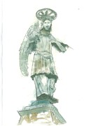St Piran Prints - St. Michael from Piran Print by Marko Jezernik