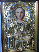 Epiphany Paintings - St Michael Icon Russia by Robert Gerdes