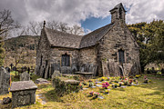 Graveyard Digital Art Prints - St Michaels Church Print by Adrian Evans