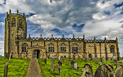 Sterne Prints - St Michaels Church Coxwold Print by Trevor Kersley