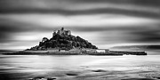 Monochrome Posters - St Michaels Mount Poster by John Farnan