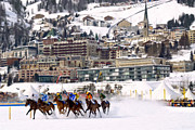 Turf Digital Art - St-Moritz Horse Race by Olaf Protze