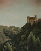 Original Oil On Canvas Posters - St Nicholas Church Savoca Poster by Cecilia  Brendel
